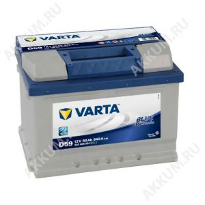 Аккумулятор VARTA Blue Dynamic 60 о.п.